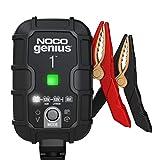 NOCO GENIUS1EU, Inteligente automático de 1A, Cargador 6V y 12V, mantenedor desulfatador de batería con compensación de Temperatura