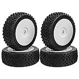 Leftwei Neumático de Coche RC, Accesorios RC Práctico neumático RC, Caucho y plástico Firme 4PCS para Kyosho HPI