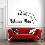 Belleza cita Manicura Spa Vinilo Adhesivo de pared Manicura | Regalo creativo de la etiqueta engomada DIY Wall Decal Decoración de la pared Decoración de la pared