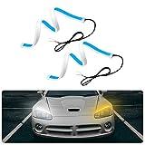 2 Piezas Luces de Circulación Diurna 60cm, 300LED Tira de luces LED para coche, IP65 Impermeable Tiras de Luces LED DRL 12V para Coche Tira del Faro DelanteroSeñal de giro
