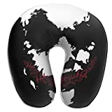XCNGG J.O.K.E.R Almohadas en forma de U Almohada de viaje portátil para el cuello, almohadas suaves para exteriores Almohadas de espuma viscoelástica, cómodas y transpirables, para soporte de cabeza y
