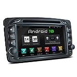XOMAX XM-07ZA Radio de Coche con Android 10 Adecuado para Mercedes Viano CLK Vito I 4Core, 2GB RAM, 32GB ROM I GPS I Bluetooth I 7' Pantalla Táctil I DVD, CD, USB, SD, RDS