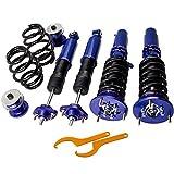 maXpeedingrods Kit Coilover Amortiguador Muelle Suspensión para E46 3 Series 320i 323i 325