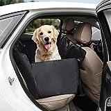 Tech Traders - Funda para el asiento trasero del coche para los perros, resistente al agua y a prueba de arañazos - Cesta de tamaño universal para todos los coches, camiones y todocaminos, color negro