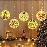 JKC Rideau Lumineux Noël, USB Eclairage de Noël Décoration Intérieur, LED Guirlande Lumineuse Décoration Pour la Chambre Terrasse Fenêtre et Maison