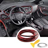 YY-LC - Líneas de llenado para automóviles extraíbles 3D para interior y exterior de coche, para decoración de coche, para accesorios universales de coche, 5 m (rojo)