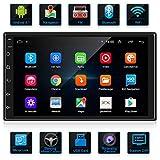 ANKEWAY Android 9.1 Radio de Coche 2 DIN Car Stereo 7 Pulgadas 1080P HD Pantalla Táctil+Llamadas Manos Libres Bluetooth+WiFi+Navegación GPS+Cámara de Visión Trasera+USB Doble+Reproductor de Internet