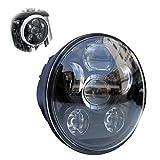 Locisne 5-3 / 4 '5.75' Proyector redondo LED Proyector Daymaker para Harley Davidson Kickfaire Motocicleta Proyector Luces 45W 9 LED Bulb Iluminación Lámpara de aluminio