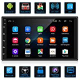 ANKEWAY 2021 Nuevo 2 DIN Android 9.1 DSP/RDS/Am/FM Radio del Coche Navegación GPS 7 Pulgadas 1080P HD Pantalla Táctil +WiFi Internet Multimedia+Bluetooth Manos Libres+Micrófono+Cámara de Marcha atrás