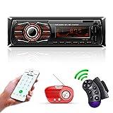 TOYOUSONIC Radio Coche, 12V Universal Autoradio Bluetooth Llamadas Manos Libres Car Stereo Reproductor MP3 Radio FM Doble USB Carga Rapida/AUX/SD con Control Remoto del Volante.