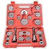 TRESKO Reposicionador de pistones de freno 22 piezas para reposicionar el pistón de freno al cambiar los discos, las zapatas o las pastillas de freno, set de herramientas para vehículos