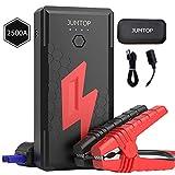 JUMTOP arrancador bateria Coche 20800mAh 2500A Pico arrancador Coche Arranque bateria Coche (Motor 8,0L Gas / 6,5L diésel) Jump Starter-Batería automática Cargador teléfono bancario USB LED