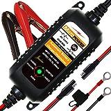 MOTOPOWER MP0205A 12V 800mA Cargador de batería automático/Mantenedor para automóviles, Motocicletas, ATVs, RVs, Powersports, Barco y más. Inteligente, Compacto y Respetuoso del Medio Ambiente