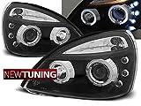 Faros delanteros para Renault Clio II 06.01-09.05 Angel Eyes, color negro