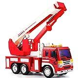 Modelo de radio de coche de control RC de rescate de bomberos Camión de control remoto del coche de bomberos mejor juguete for niños y niñas con las luces sirena y Extensión de Escalera Exclusiva de C