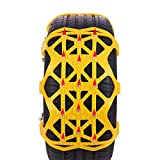N/G Cadenas De Nieve para Automóviles Universales Cadenas De Neumáticos 6 Piezas Antideslizante Universal para Neumáticos Ancho
