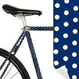 MOOXIBIKE Fahrradfolie mit Muster für Rennrad Lámina para Bicicleta de Carreras, Unisex Adulto, Azul, 1 x 150 x 13 cm