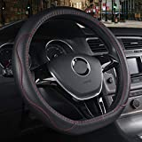 MDHANBK D-Shaped Leather Car Steering Wheel Cover,For Citroen DS3 DS4 DS52009-2015 Grand C4 Picasso 2 2013-2021 Spacetourer 2016-2020 2021 Auto Parts