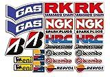 Set de 22 pegatinas para moto de patrocinadores para SBK, Honda, Yamaha, Ducati, Suzuki, BMW o Aprilia
