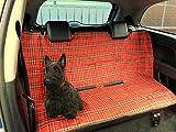 Cubreasientos protector para coche, de XtremeAuto. Impermeable. Para el asiento o el maletero. Diseño de tartán