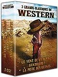 3 grands classiques du western : Le vent de la plaine + Bandolero! + La piste des géants [Francia] [DVD]